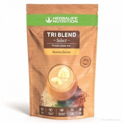 Tri Blend Select Herbalife, shake proteico adatto ai vegani e senza glutine, Banana 600 gr