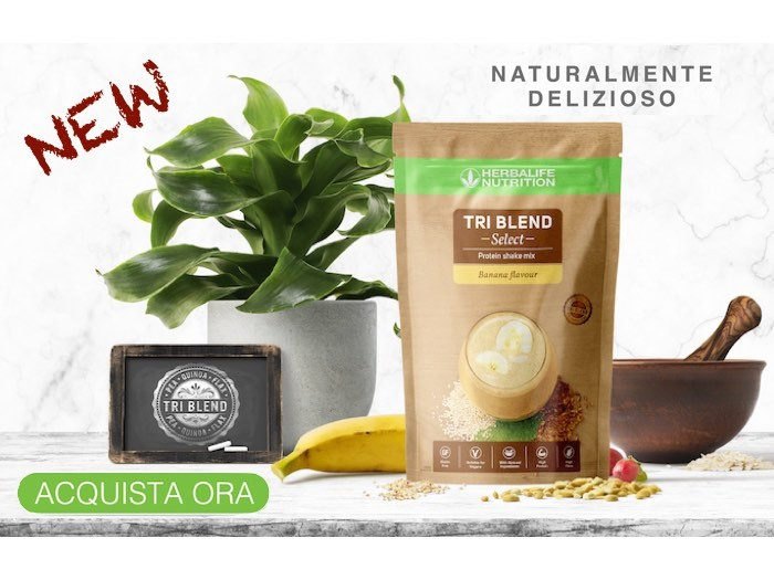 Tri Blend Select - Preparato proteico solubile in acqua Banana 600 g