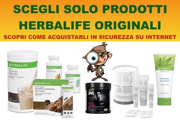 Scopri come acquistare in sicurezza su internet i prodotti Herbalife ORIGINALI !